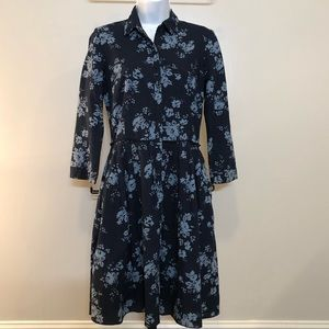 Gap Chambray Floral Dress Sz XS